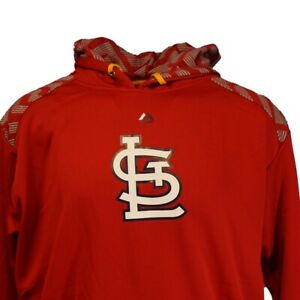 St. Louis Cardinals MLB Majestic Red Pullover Hoodie