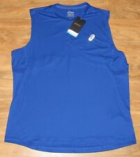 Nwt Asics Men's Performance Run Sleeveless Top 121615 Blue-2Xl