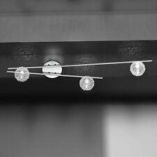 Wofi Deckenleuchte Arc 3-flg Chrom Glas Kugel Draht aussen 60 Watt 960 Lumen