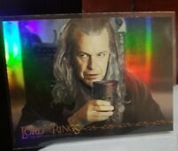 2003 TOPPS LORD OF THE RINGS LoTR RETURN OF THE KING #2 DENETHOR PRISMATIC FOIL