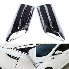electroplating Universal Car Air Flow Fender Side Mesh Vent Decoration Sticker