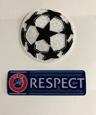 Set of UCL Champions League Respect Star Ball Patch Badge Parche Flicken