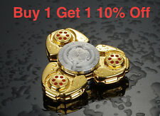 Gold CKF Aluminum Fidget Hand Spinner Metal Toy Finger EDC ADHD Anxiety Stress