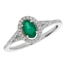 Unbranded Emerald Fine Diamond Rings