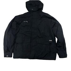 Burton Mens Phantom Snowboard Jacket Hoodie Black Size Large Full Zipper O4