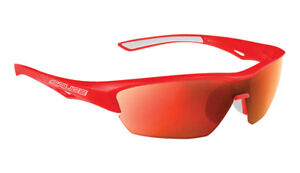 SALICE 011 Cycling Sport Sunglasses Red / Red includes case and extra clear lens