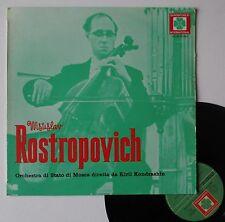"""Vinyle 33T Mstislav Rostropovich  """"Shostakovith - Tchaikovsky - Handel - Chopin"""""""