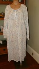 """New listing Women's Vintage Adonna Cotton Blend """"Granny"""" Nightgown 3X Bust to 58""""Blue Print"""