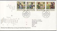 GB 1992 Civil War FDC Banbury Oxfordshire postmark set stamps