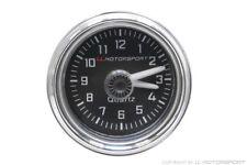 MX-5 Uhr Ø 52mm Analog schwarz mit Chrom Ring I.L. Mazda MX-5 TYP NA, NB & NB/FL