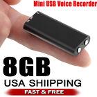 NEW Mini Spy Audio Recorder Voice Listening Device 96 Hours 8GB Bug Recording US