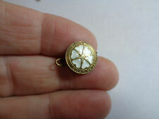 VINTAGE LADIES CIRCLE NORGE 925 ENAMELLED HEART BROOCH WITH GOLD WASH