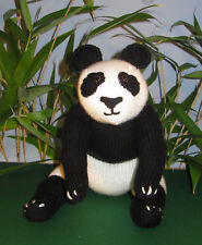 Istruzioni stampate-Gigante Panda giocattolo animale Bear knitting pattern