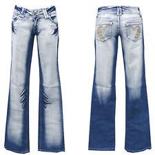 Denim Girls blue jeans w28-gr.36 bootcut pantalones golpe señora Teens chica nº 5