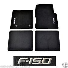 OEM NEW 2012-2014 Ford F-150 CREW CAB Carpet Floor Mats BLACK Embroidered Logo