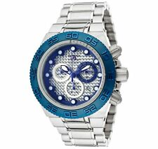 New Mens Invicta 10864 Subaqua Sport Swiss Chronograph Silver & Blue Dial Watch