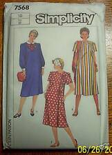 SIMPLICITY Uncut Sewing Pattern 7568 MATERNITY DRESS 8 10 12 14 16 1986 New