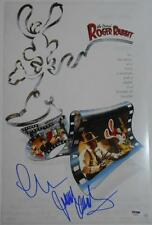 CHARLES FLEISCHER + JOANNA CASSIDY Signed 11x17 Photo ROGER RABBIT w/ PSA/DNA