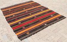 Turkish Kilim Rug 70''x87'' Hand Woven Adana Cicim Kilim 179x223cm