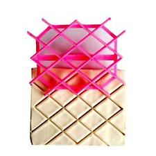 New Diamond Rhombus Cake Cookie Fondant Cutter Embossing Decorating Mold Tool LD