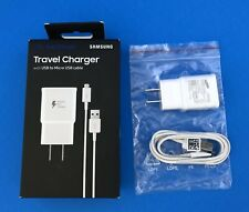 Samsung Fast Charge Travel Wall Charger with USB to Micro USB cable - White