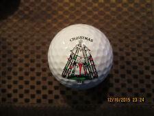 LOGO GOLF BALL-CHRISTMAS TEE...GOLF BALL WITH TEE....GOLF..COOL...CHRISTMAS