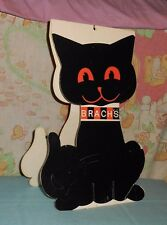 vintage BRACH'S CANDY HALLOWEEN RETAIL STORE COUNTER DISPLAY sign black cat