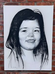 Russian American New York Artist Marc Klionsky Portrait Of A Child. Signed 1989