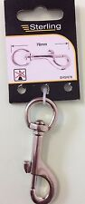 SNAP HOOK SWIVEL CLIP DOG LEAD KEY RING SPARE REPLACEMENT CHAIN HOLDER- STERLING