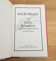 John Edwards Senator NC Autograph Signed Four Trials Book 08 President Candidate