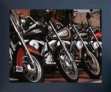 Harley Davidson Motorcycles In Row Wall Decor Espresso Framed Art Print Picture