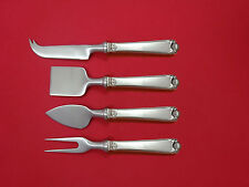 George II Rex Hand Chased by Watson Sterling Cheese Serving Set 4pc HHWS  Custom