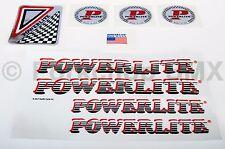 Officially licensed 1983-86 Powerlite old school BMX decal sticker SET - RED
