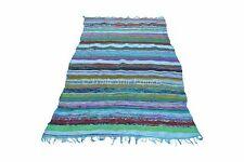 4X6 Large Area Rag Rug Indian Floor Carpet Reversible Yoga Mat Boho Chindi Throw