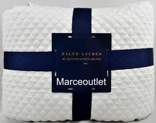 New listing Ralph Lauren Home Argyle Sateen King Quilted Coverlet Platinum