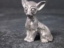 "Spoontiques 1983 Miniature PEWTER CHIHUAHUA DOG 1"" New Old Stock"