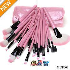 32PCS Wood Make up Brushes Kit Professional Cosmetic Makeup Brush Set Pink mup03