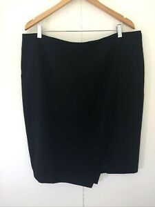 Basque Black Pencil Straight Skirt Size 18 Work Office Business Corporate