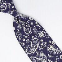 John G Hardy Mens Silk Necktie Red Blue Orange Pink Stripe Made in Italy Tie