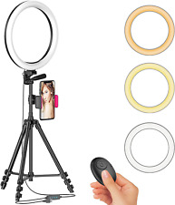 Tripod Stand with Ring Light Live Streaming Equipment For Selfie Extendable