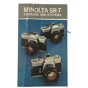 Minolta SR-T System Camera Brochure Pamphlet Advertising Information