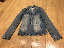 Denim Jacket Moto Topshop Size 8 Blazer