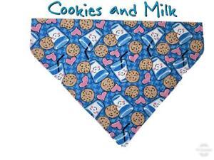 Cookies & Milk Dog Bandana Over the Collar bandana Dog collar bandana puppy