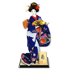"Japanese OYAMA DOLL 18""H Holding Odori OGI Fan /Made in Japan"