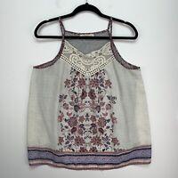 rewind tank top blouse size XL cotton