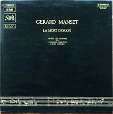 GERARD MANSET LA MORT D'ORION RARE 33T LP 1er Pressage ORIGINAL COMPLET + LIVRET