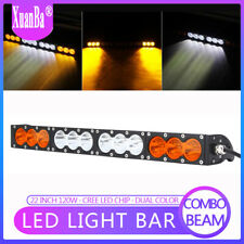 22 Inch 120W LED Work Light Bar Flood Spot Combo Driving Lamp Offroad Truck SUV