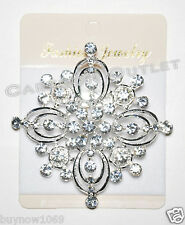1pc RHINESTONE BRIDAL BROOCH PIN WEDDING CAKE DECORATION BRIDES MAID QUINCEANERA