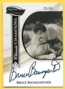 2009 PP Fusion Classic Champions Gold Bruce Baumgartner On Card Autograph #79/99