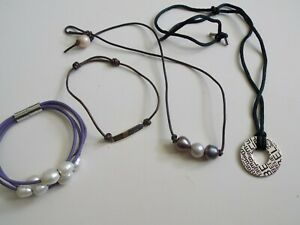 ALEXA'S ANGELA , 925 silver, real pearl  string style bracelet & necklace  lot